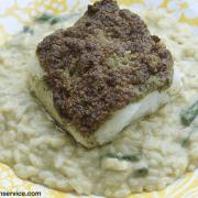 Pesto Crusted Chilean Sea Bass