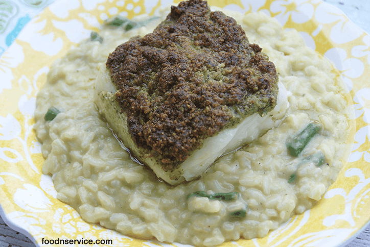 You're going to love my Pesto crusted Chilean Sea Bass recipe! It's simple, delicious and gluten free! This is a great recipe for all pescatarians!