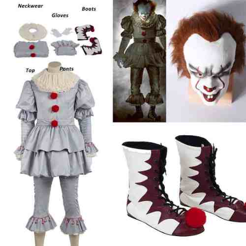 Pennywise Costume for Halloween from IT movie.