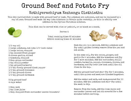 Ground Beef and Potato Fry