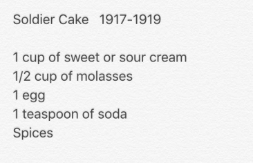 original recipe soldier cake