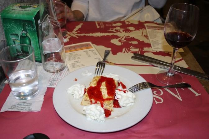 Turon with Cherry and Whipped Cream La Morada