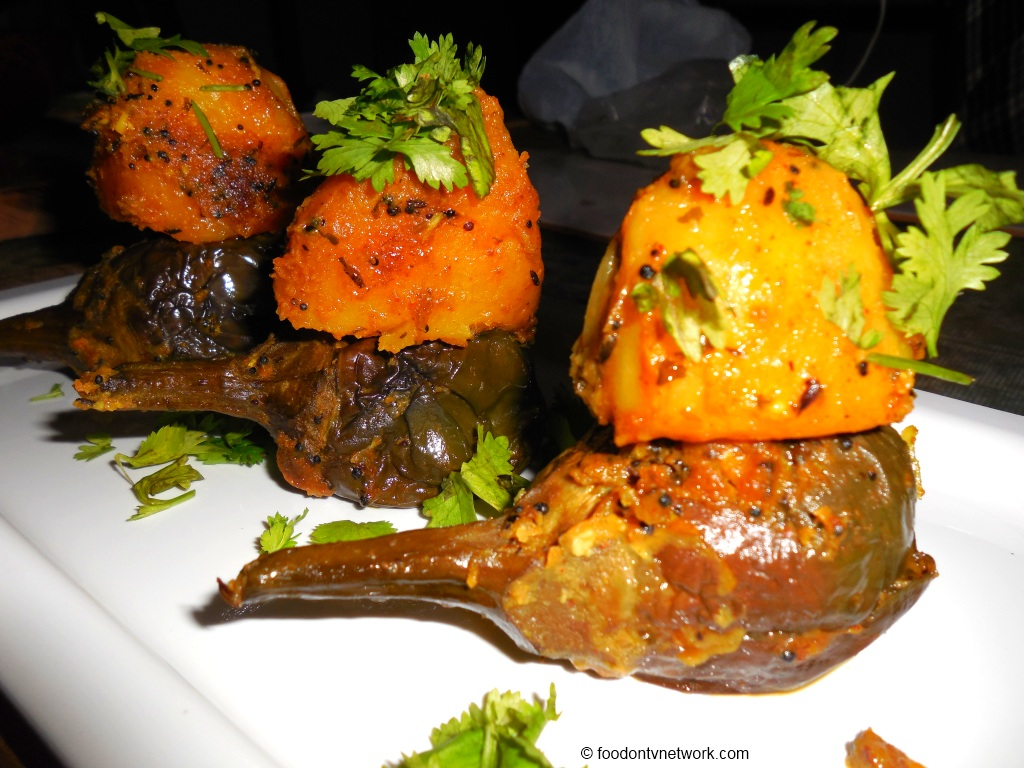 Indian Stuffed Curry of Birnjal or Eggplants