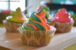 Rainbow Cupcake Recipe. Perfect Vanilla Cupcakes Recipe.
