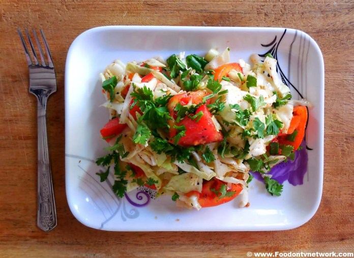 How to Make Onion and Cabbage Salad Recipe, Best Indian Salad Recipe, Indian Gujarati Salad Recipe, Indian Vegetarian Salad Recipe.