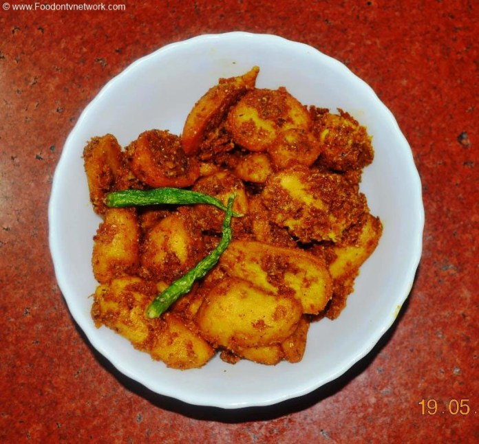 Fried Arbi ki Subzi Recipe. Indian Curry Recipe. Vegetable Curry Recipe.
