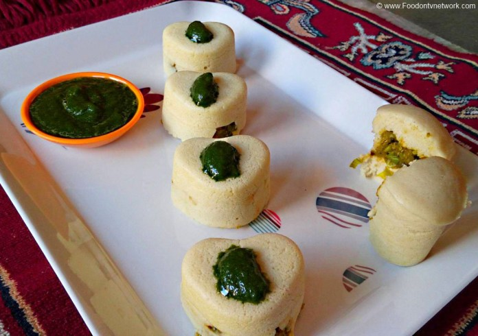 Idli Rasprise Recipe. Rasprise Idli Recipe. Heart Shape Idli Recipe. South Indian Cuisine.