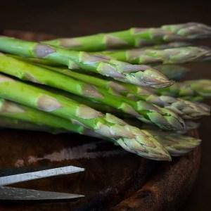 Asparagus, a rich source of Niacin (Vitamin B3) and Folate (B9)