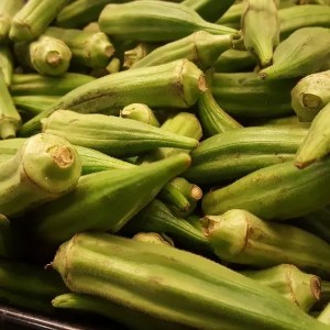 Okra, a rich source of Niacin (Vitamin B3) & Vitamin B6 and Folate (B9)