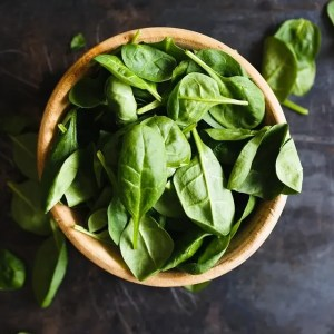 Spinach, a rich source of Vitamin B6