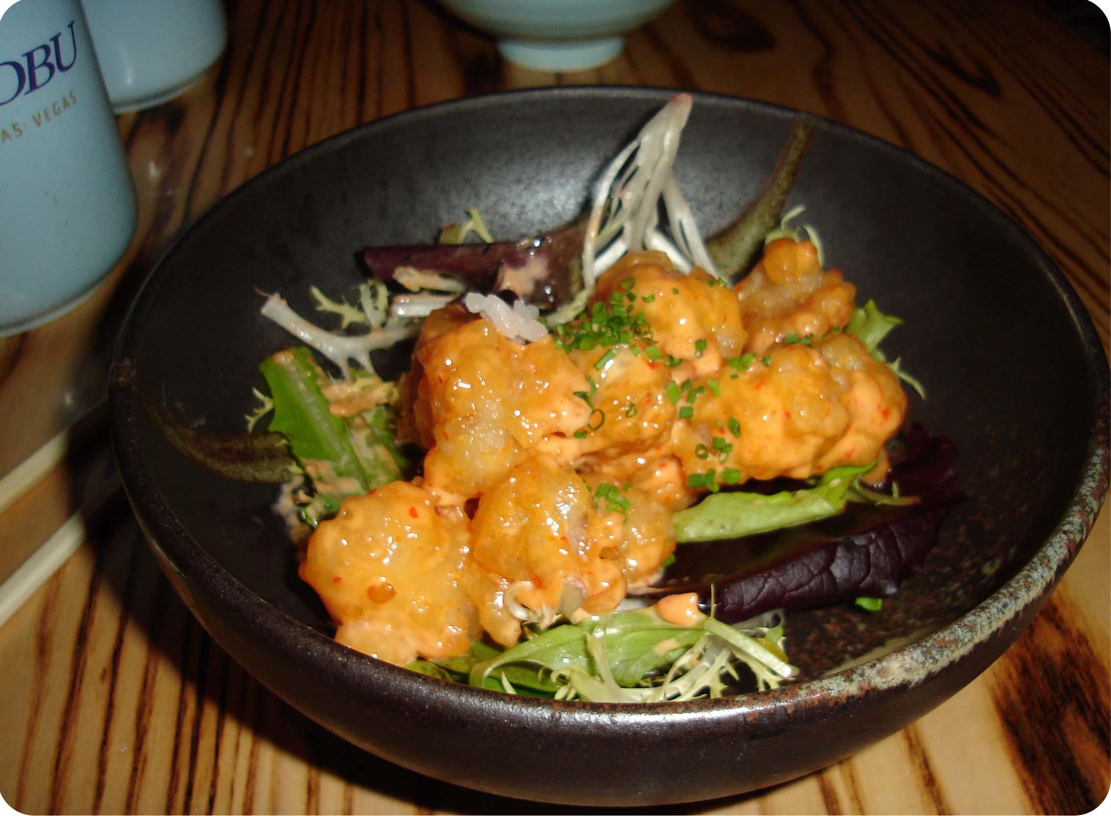 Rock Shrimp in creamy-spicy sauce