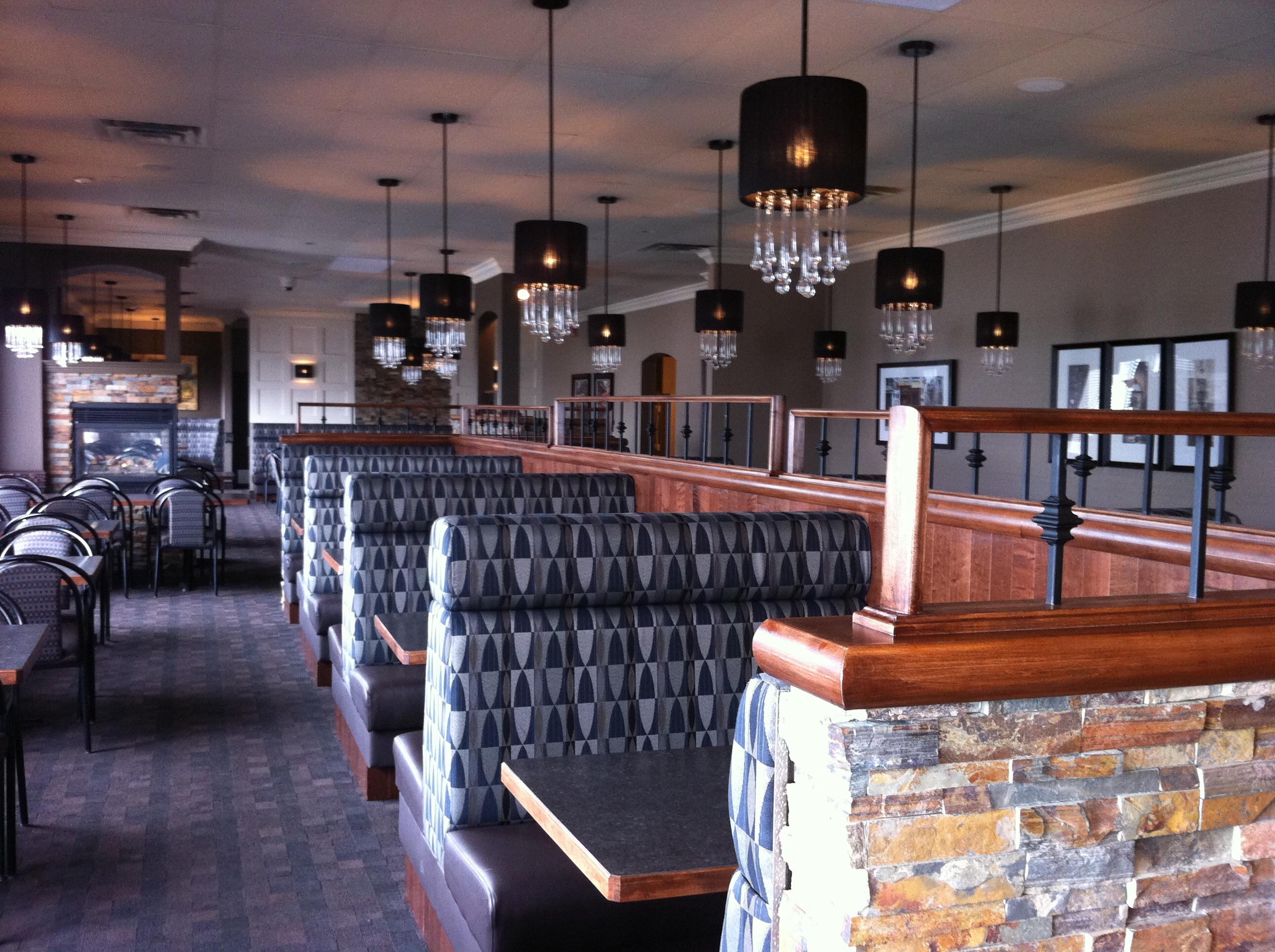 ave six chair burnt orange accent kosmos restaurant & lounge, 5011 50 ave, leduc downtown