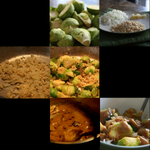Brussels Sprouts with Peanut Sauce