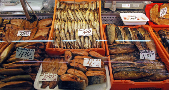 Kippered salmon food perestroika for Central fish market
