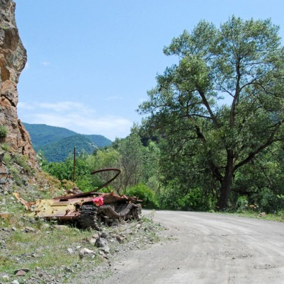 Road to Dadivank - Tank