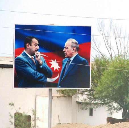 Azerbaijan - Road to Quba - Aliyev Billboard