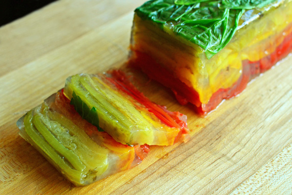 Summer Vegetable Terrine - Peppers and Tomatoes