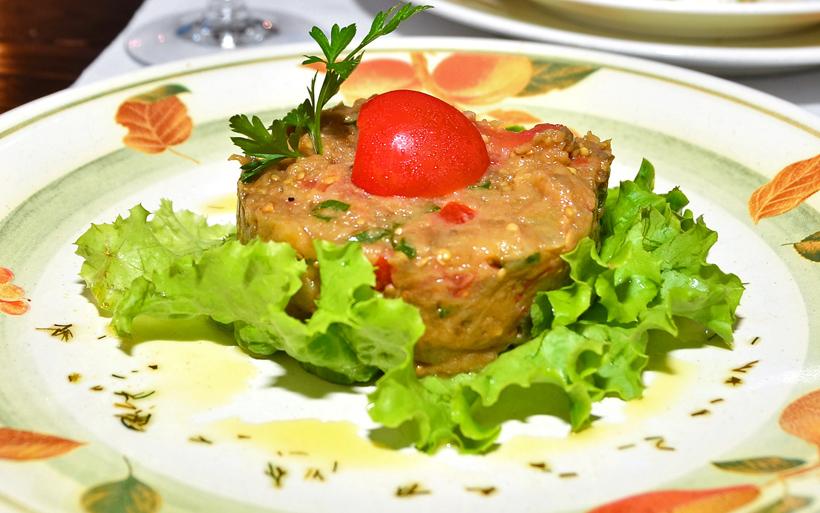 Moldovan Food - Restaurant Vatra Neamului - Eggplant Caviar