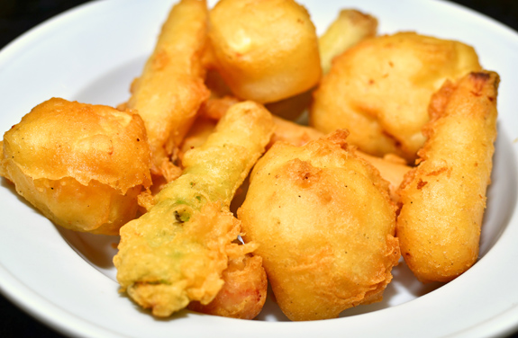 Vodka Battered Vegetables