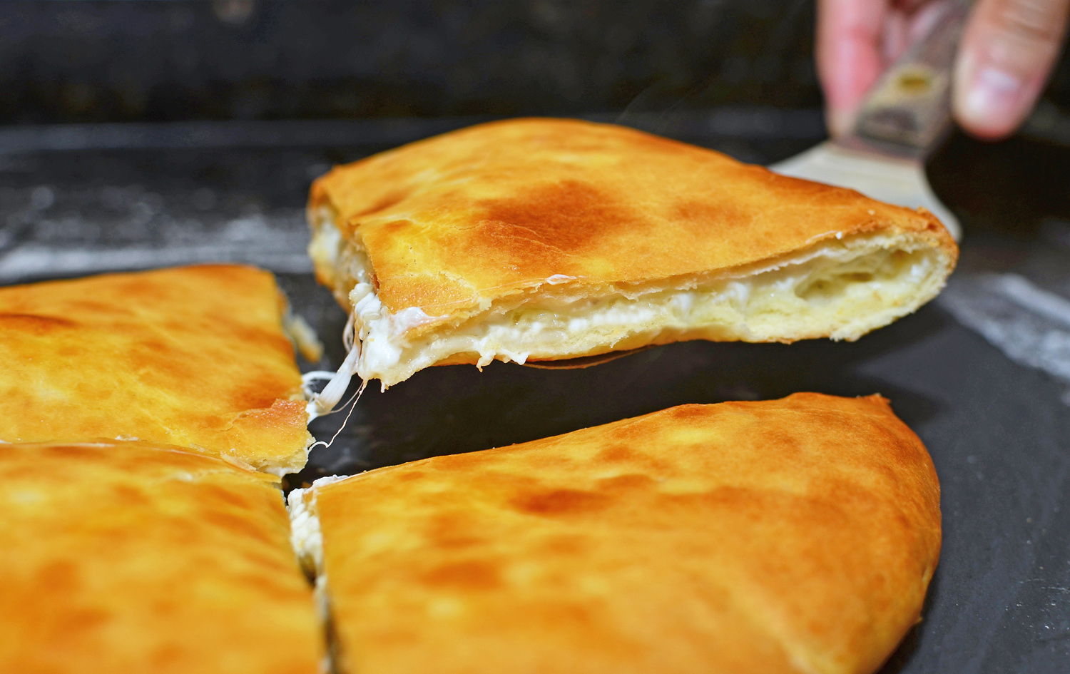 Georgian Food - Imeretian Khachapuri