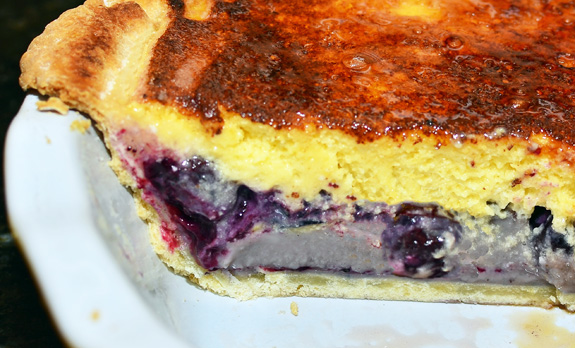 Blueberry Pie with Sour Cream and Vodka Chiboust Cream