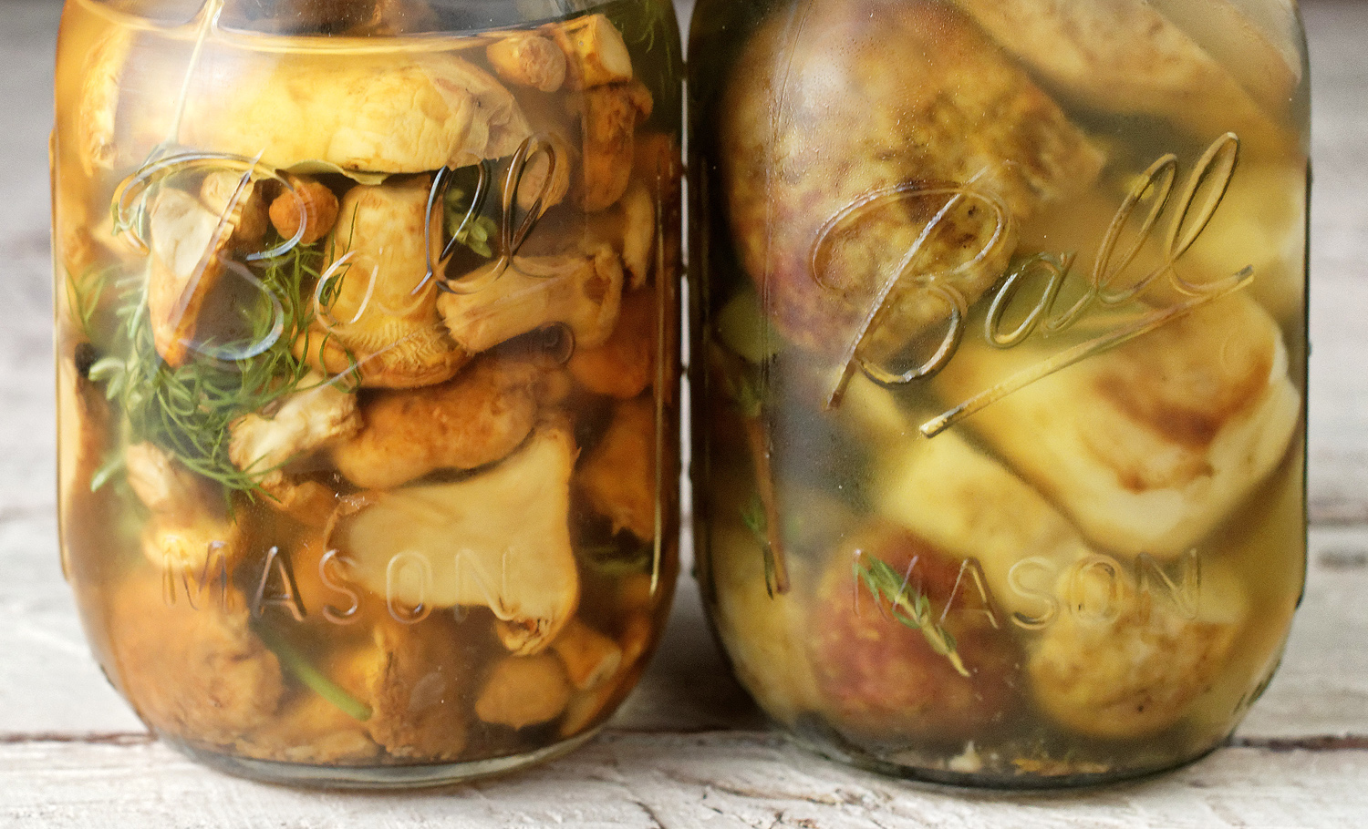 Russian Food - Marinated Mushrooms