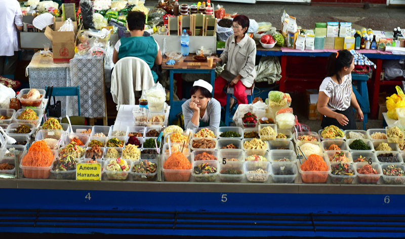 Almaty Green Market - Koryo-Saram Vendors