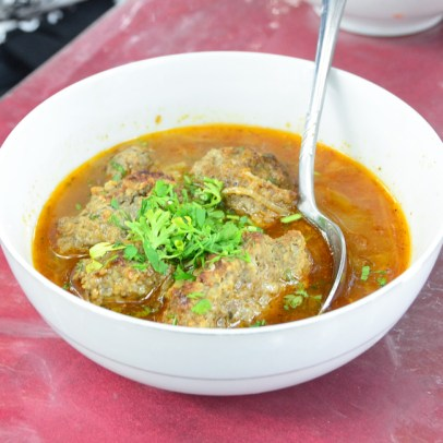 Road to Dushanbe - Lunch Break - Soup with Kofta