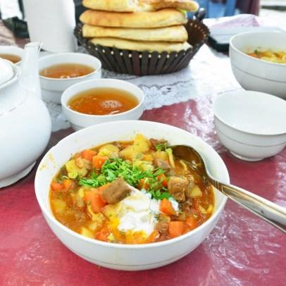 Road to Dushanbe - Lunch Break - Lagman Soup