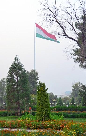 Dushanbe - Rudaki Park - Tajik Flag