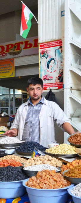 Dushanbe - Shah Mansur Bazaar - Dried Fruits and Nuts
