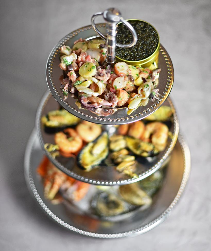 Russian Food - Russian Seafood Plateau