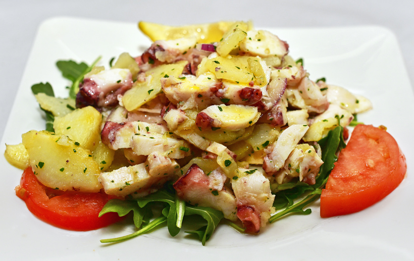 New Rochelle - Dubrovnik Restaurant - None's Style Octopus Salad