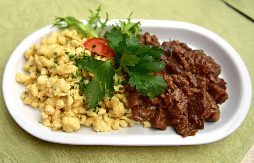 Hegykő - Tornácos Restaurant - Lamb Stew with Wild Mushrooms, Cheese Spaetzle