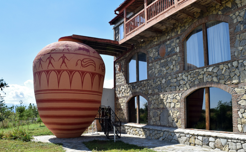 Qvevri and Qvevri Wine Museum in Napareuli, Kakheti