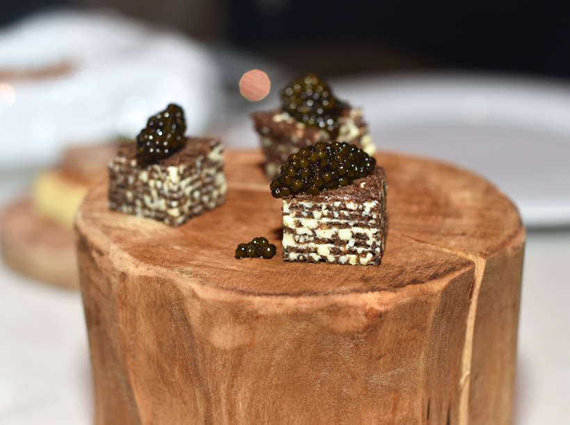 Moscow - White Rabbit - Savory Napoleon with Caviar