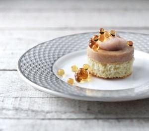 Russian Cuisine - Brioche, Golden Beet, Foie Gras and Herring