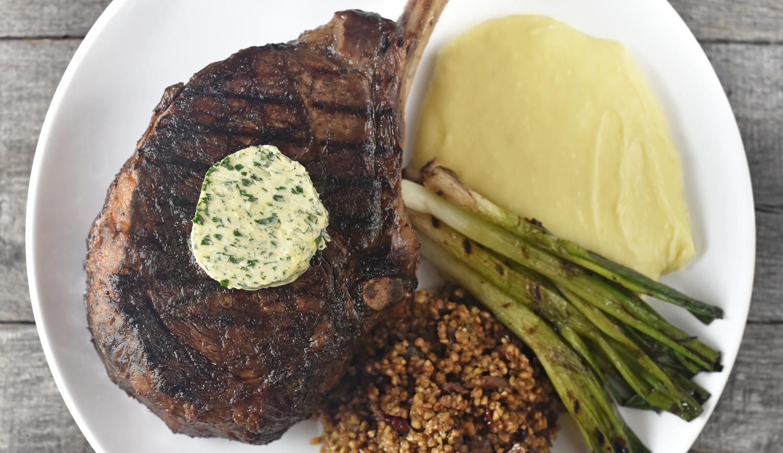 Russian Bulava Steak, Kasha and Aligot
