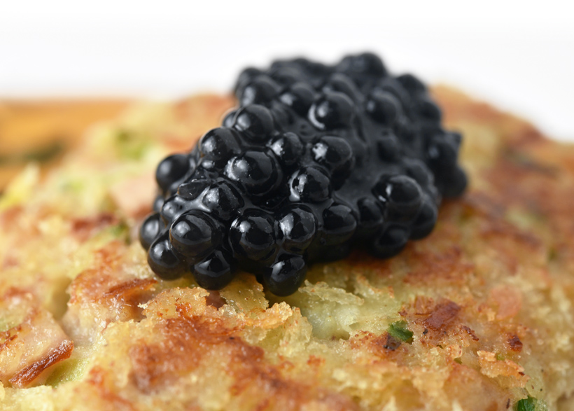 Soviet-Jewish Food - Forshmak Cutlet with Herring Roe