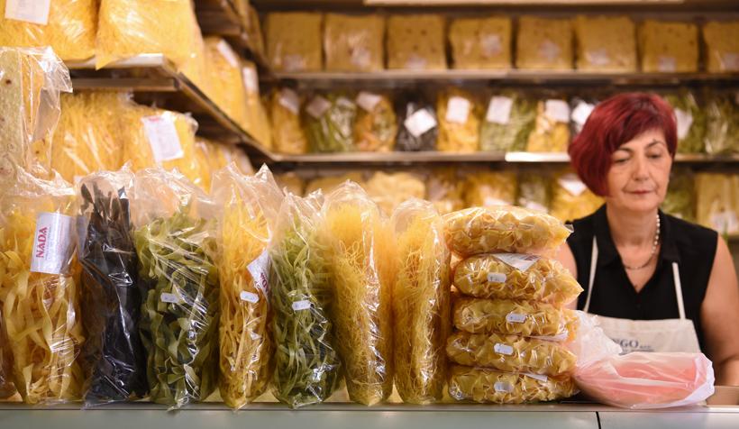 Zagreb - Dolac Market - Pasta