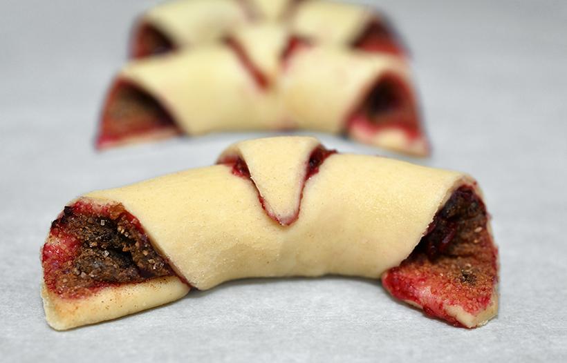Blackcurrant Preserves-Red Beet-Cinnamon Sugar Rogaliki