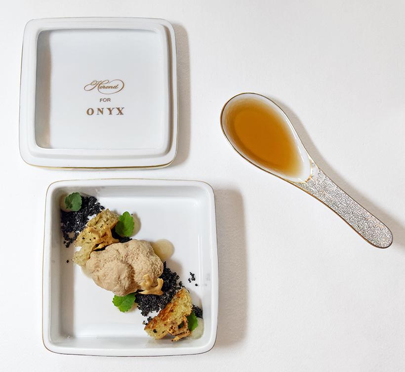 Budapest - Onyx Restaurant - Duck Foie Gras, Almond, Truffle Milk Bread