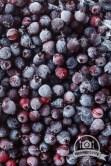 Frozen shadberry. Overhead view