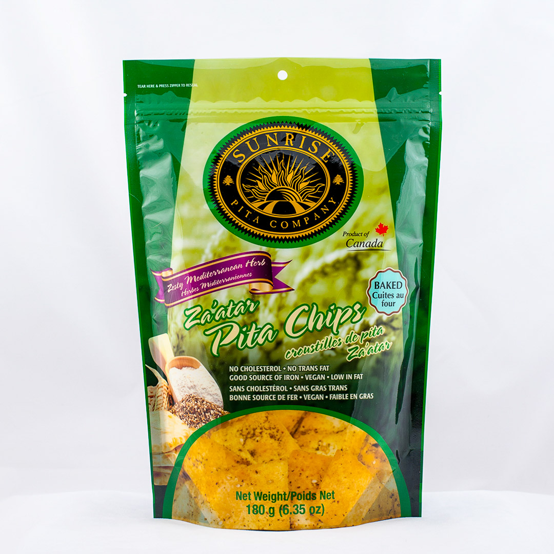 Pita Chips green Package Design