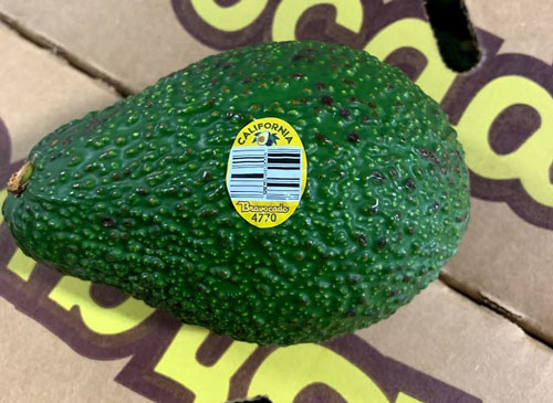 Henry Avocado Recall - CDC provided image - Conventionally Grown