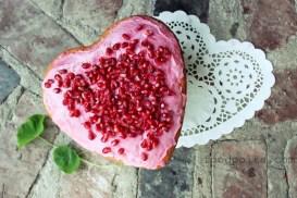 valentines day pomegranate cake