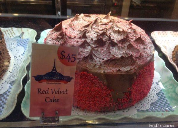 Croissant D'or red velvet cake