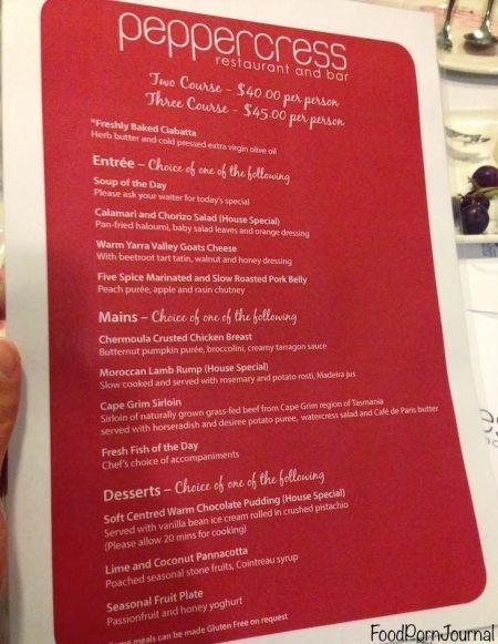 Peppercress CSCC menu