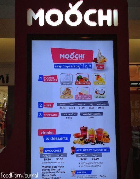 Moochi Canberra menu