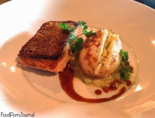 Pistachio Dining salmon